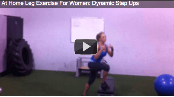 At Home Leg Exercise For Women – Dynamic Step Up
