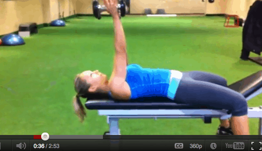 Tricep Exercises For Women: Dumbbell Arm Extension