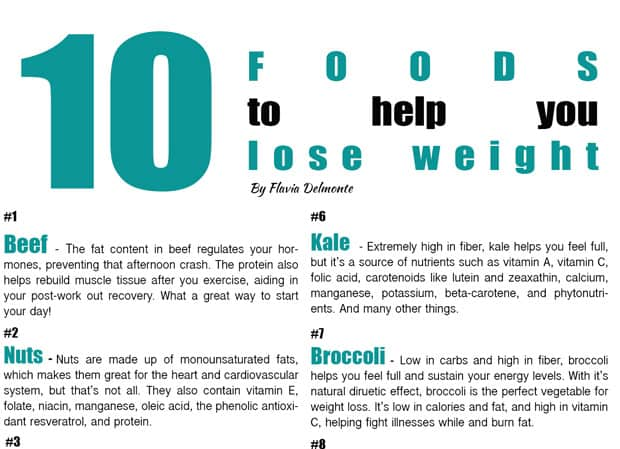 Tasty Thursday – 10 Foods to Help you Lose Weight