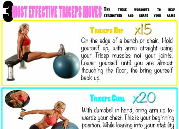 Fitness Tip Tuesday – 3 Most Effective Triceps Moves