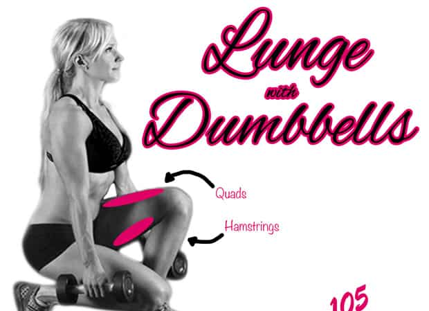 Fitness Tip Tuesday – Lunge with Dumbbells For Better Glutes