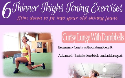 Wednesday Workout – 6 Thinner Thighs Toning Exercises