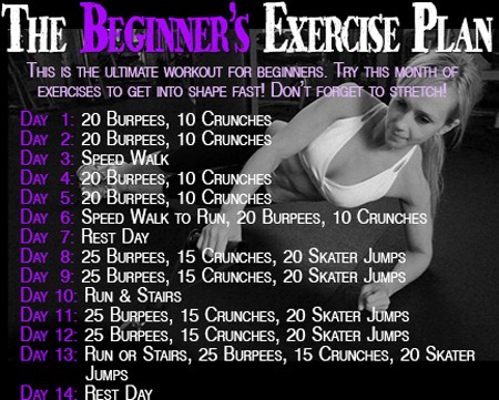 Workout Wednesday – The Beginner's Exercise Plan