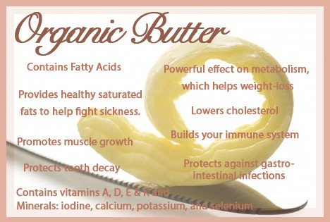 Food Friday – Health Benefits of Organic Butter