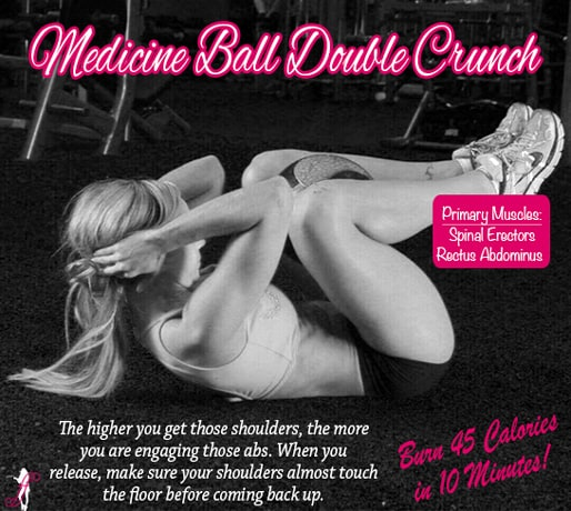 Fitness Tip Tuesday – Medicine Ball Double Crunch
