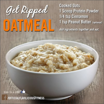 protein powder in oatmeal