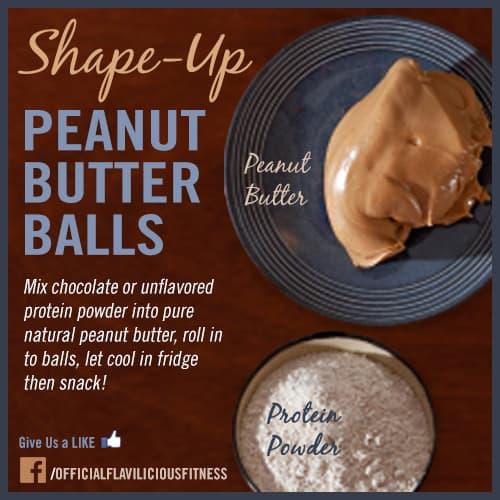 protein powder peanut butter balls