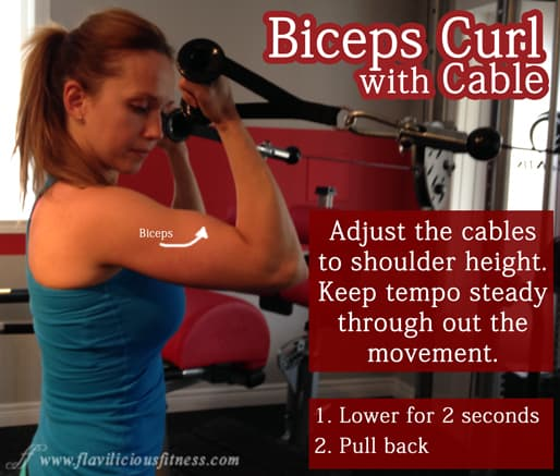 bicep curl machine