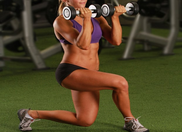 Reverse Lunge Cross with Bicep Curl (Fitness Tip Tuesday)