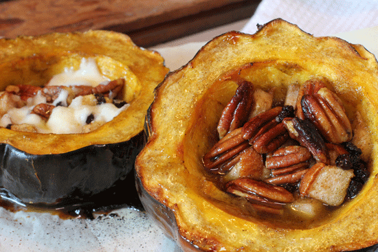 Pecan & Pear Stuffed Squash Recipe