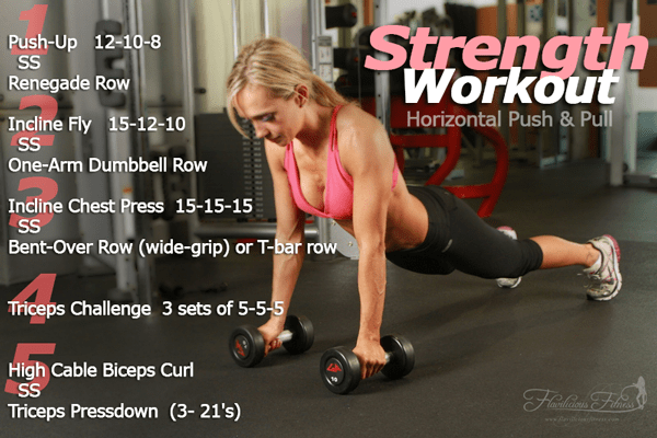 Strength Conditioning Workout – Horizontal Push & Pull — Workout 3 of 4