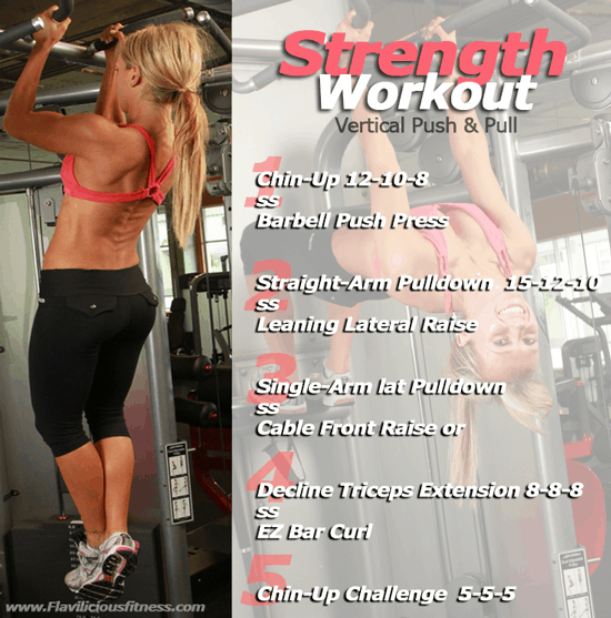 Strength Conditioning Workout – Vertical Push & Pull — Workout 4 of 4