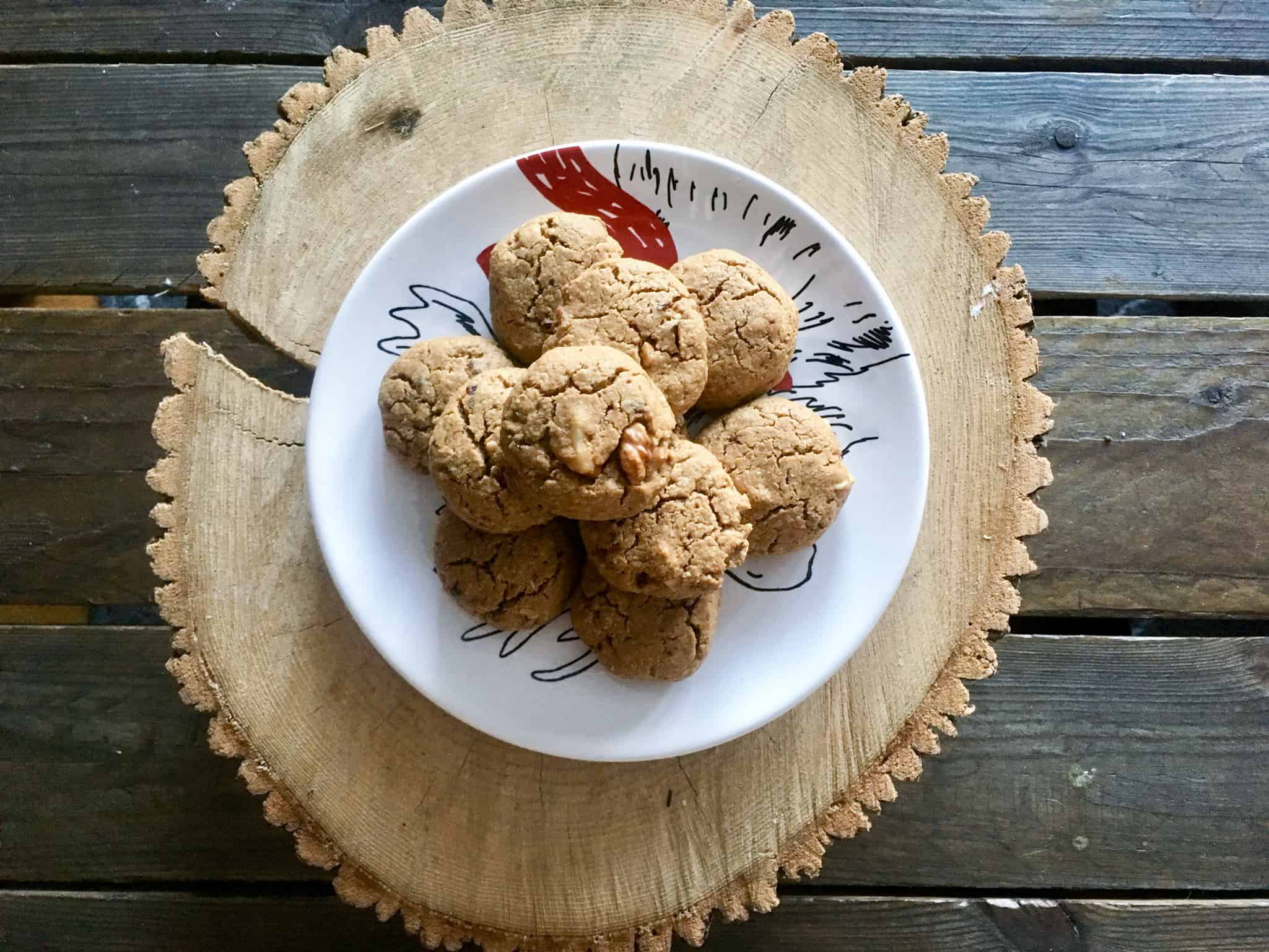 Sun Butter Dated Cookies with Walnuts